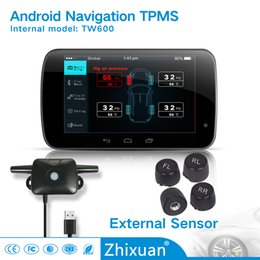 Wholesale China Auto Tools - auto car made in China TPMS dirrectly to users USB android navigation APP TPMS tire pressure moinitoring system with 4external sensors