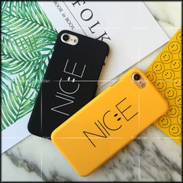 Wholesale Cute Korean Iphone Cases - New Arrival Korean Cute Fashion Case Nice Letter Smile For iPhone 7 iPhone 7 plus iPhone 6 i6s plus 5s Hard PC 50 pcs with OPP package