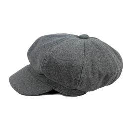 Wholesale Black Ivy Cap - Wholesale-2016 New Fashion Winter Woman Beret Duckbill Ivy Cap Flat Cabbie Newsboy Warm Hat Black Red