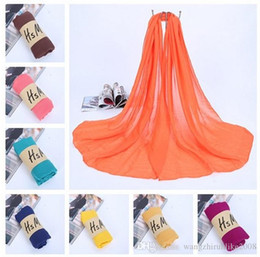 Wholesale Grey Knit Korean Style - 2016 Korean style pure color long cotton and linen scarf,Large silk shawls scarves collar,women shawls collar