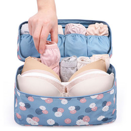 Wholesale bra travel case wholesale - Wholesale- Travel Sexy Women zipper Makeup Bags Bra Underwear Waterproof And portable High Quality Organizer Bag Toiletry Bag Storage Case