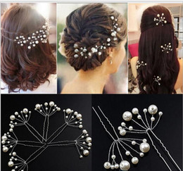 Wholesale Hair Stone Flower Clips - Sparkly White Red Bridal Headpieces 2017 Wedding Accessories Women Hairpins Fascinators For Wedding Party Bridesmaid Popular