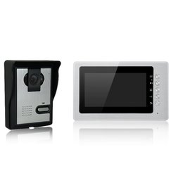 Wholesale Color Video Door Phone System - villa video door phone 7 inch TFT-LCD color screen Itercom system and case cast iron and rainproof