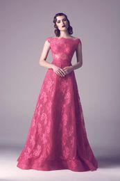 Wholesale One Piece Cape - burgundy lace prom dresses 2017 bateau neckline cape sleeves A-line prom dresses for evening party dinner dresses