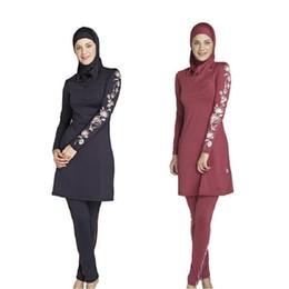 Wholesale Swimwear For Muslims - Wholesale 2017 Muslim Swimwear Female Bathing Suit Swimsuit For Women Plus Size Muslim Swimming Beachwear Islamic Swimsuit Free Shipping