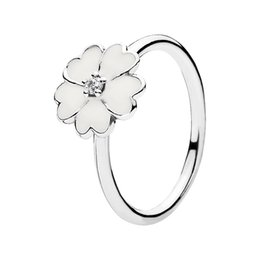 Wholesale Primrose Stackable Ring White Enamel Engagement Rings Factory EN12