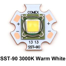Wholesale Luminus Led - Wholesale- 1 Piece Luminus SST-90 LED Module Chip diode bulb 3000k warm white 30W 2250 Lumens SST90 LED Emitter with 20mm Copper Board