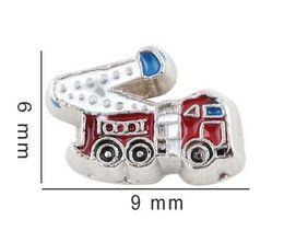 camion di fascino Sconti 20 Pz / lotto FAI DA TE In Lega di Fuoco Camion Charms Medaglione Galleggiante Per Vetro Living Medaglioni Magnetici Memoria Creazione di Gioielli