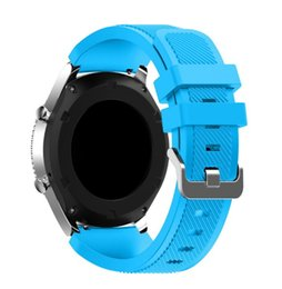 Wholesale Silicone Bracelet Watches For Men - replacement strap Gear S3 Frontier   Classic Watch Band, 22mm Soft Silicone Man Watch Replacement Bracelet Strap for Samsung Gear S3
