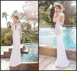 Wholesale Open Bust Black Dress - Floor Length Custom Made Bridal Gown Lace Long Sleeve Sexy Bust Designer Open Back Hollow Wedding Dresses Cheap Price Garden