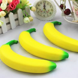 Wholesale Decoration Pendant - Banana Squishy Slow Rising Xmas Decoration Cute Jumbo Simulate Phone Straps Pendant Squeeze Stress Stretch Bread Kids Toy Gift