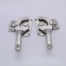 Wholesale hinges cabinets - stainless steel Freezer handle oven door hinge Cold storage Industrial truck latch hardware pull cabinet closed tightly knob part