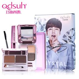Wholesale Eyeshadow Crystal - Wholesale- Qdsuh Jang Keun Suk Signature Special Crystal Makeup Set Pressed Powder Mascara Brow Eyeshadow Cosmetic Base Primer Foundation