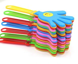 Wholesale Wholesale Hand Clapper - clapper clap toy Plastic Hand cheer leading clap Party Music Evening Game Football plastic hand clapping Baby Kid Toy
