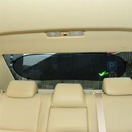 Wholesale Car Rear Window Sun Screens - Wholesale- 1pc 100cm*50cm Black car Rear Window Sunshade Cover Side Car Sun Shade Mesh Visor Shield Screen