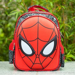 Wholesale Spider Backpack - Children Spider Man Masks Backpack Cartoon Kids Cute Backpack Bags School Bag for Boy and Girl Kids Satchel Backpacks Bags