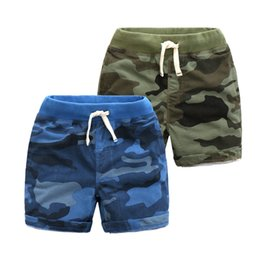 Wholesale Boutique Clothing Brands - 2017 Summer Boys clothing Boys camo shorts Knit denim short Beach shorts draw cord Boutique Cotton Brand wholesale High quality
