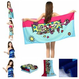 Wholesale Microfiber Absorbent Hair Towels - 3D beach Towels 44 Types Fashion Printing 70*150cm Absorbent Microfiber Bath Beach Towel Drying Washcloth Swimwear Shower kids towels HHA881