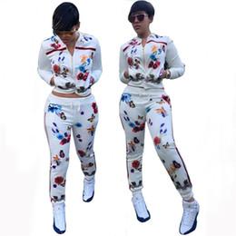 2019 fatos de treino de borboleta Conjuntos terno de suor das mulheres Impressão Borboleta 2 Pieces Set longas Suits Manga Sporting Cortar roupa Top + Sweatpants Mulheres Fatos fatos de treino de borboleta barato