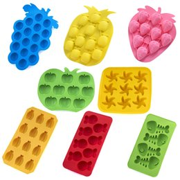 Wholesale Fruit Molds - 8 Style Fruit Shape Ice Mold Tray Ice-making Molds For Bar Party Kitchen Tools