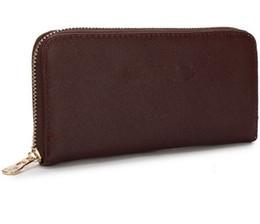 Wholesale Designer Purse Orange - Designer new hot sell Wallets ladies fashion brand luxury pu zipper wallet long style purse trade2018