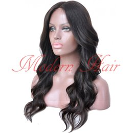 Wholesale Cheap Long Wavy Wigs Black - Cheap Synthetic wigs Long Wavy Lace Front Wigs Body Wave Black Hair Synthetic None Lace Wig Glueless Swiss Lace For Black Women FullLace