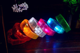 Wholesale Light Toy Fan - Sound Activated Lighting up toys Led Bracelets For Party Clubs Concerts Supplies Fans Cheering flashing Wristband