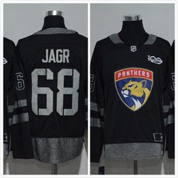 Wholesale Nhl Jersey Number - Stitched Name And Number Custom 100th Anniversary Cord NHL Florida Panthers #68 Jaromir Jagr #1 Luongo 16 Barkov 5 Ekblad Red Hockey Jersey