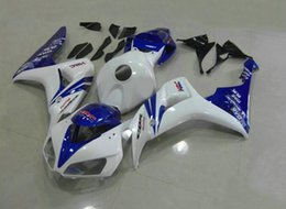 Wholesale Motorcycle Fairing Covers - New Fairings For Honda CBR1000RR 06 07 CBR1000 RR 2006 2007 Injection ABS Motorcycle Fairing Kit Bodywork Cover Cowling blue white HRC