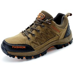 Wholesale Waterproof Trail Shoes Men - Spring and autumn mountaineering shoes 2017 new men's breath-proof waterproof and anti-skid wear-resisting outdoor hiking trail 39-44 yards