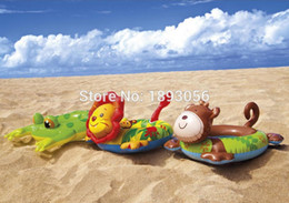Wholesale Intex Ring - Wholesale- INTEX 58221 Child Swim Tubes Cartoon Animal Extra-Thick Safety Water Sport Pool Toys Inflatable Float Swimming Rings Life Buoy