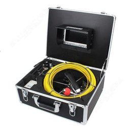 Wholesale System Pipe Inspection - WF92-50m 7inch LCD Pipe Inspection camera for Sewer plumbers   Pipe video Inspection Snake Video Camera System AT