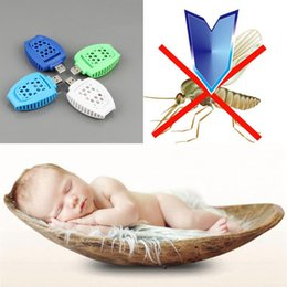 Wholesale Usb Electrical - Portable USB Electrical Mosquito Repelled Hiking USB Baby Mosquito Killer Outdoor Anti Mosquito Peat Repellent OOA2203