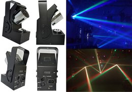 Wholesale Disco Laser Lights Prices - Wholesale- 2xLot Factory Price 10W 4in1 RGBW Mini Led Roller Scanner Beam Light DMX512 Laser Stage Lighting DJ Disco Party Effect Lights