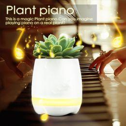 Wholesale Blue Flowerpot - 2017 Hot mini smart flowerpot sensor Bluetooth speaker Plastic Flower pot plant pots decorative Macetas pot de fleur bloempot maceta