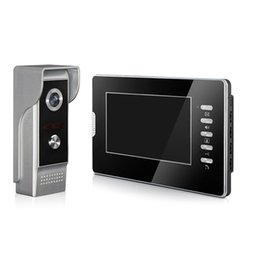 Wholesale Color Video Door Phone System - Wired Video Door Phone Intercom System with Phone Handset,TFT-LCD Color screen with Calling Talking Unlocking