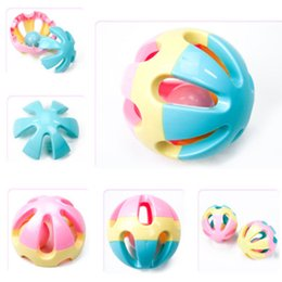 Wholesale Vision Gifts - Baby Rattling bell toy infant grasp hand vision training ball shape gift