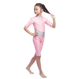 Wholesale Modest Bikinis - Kids Girls Muslim Arab Swimsuit Modest Swimwear Islamic Full Covered Beachwear