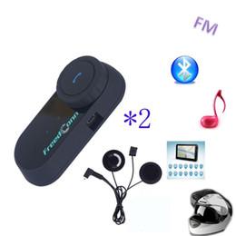 Wholesale Motorcycle Helmet Stereo Headphones - Soft Earphone! 2PC TCOM-VB 800M HiFi Bluetooth Motorcycle BT Interphone Helmet Intercom Headset Motorbike headphone Bluetooth