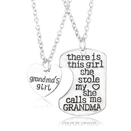 Wholesale Papa Jewelry - 2PCS There is this girl she stole my heart DADDY Dad Papa Daughter Heart Pendant Necklace Father Girl Gift Men Jewelry Choker