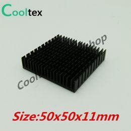 Vente en gros- (Offre spéciale) 2pcs / lot 50x50x11mm Aluminium HeatSink dissipateur de chaleur radiateur pour puce électronique LED RAM REFROIDISSEUR de refroidissement ? partir de fabricateur