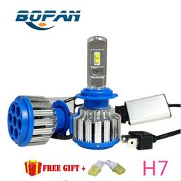 Wholesale Universal Fog Lights Hid - LED Headlight Conversion Kit H7 35W 3500LM Headlamp Replace HID Xenon Kit Auto Bulb Lamp Light Free shopping