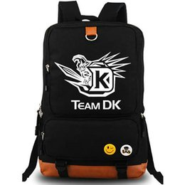 Wholesale Dk Girls - Dota2 backpack Team DK squadron daypack Dota schoolbag Game rucksack Sport school bag Outdoor day pack