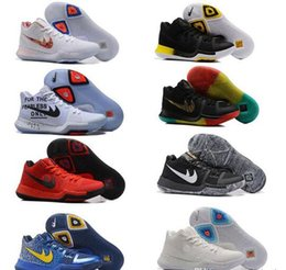 Wholesale Shine Pu - Wholesale Kyrie Irving 3 Kyrie 3 EYBL Multicolor Rise and Shine Iridescent Swoosh BHM Candy Apple Ohio PE basketball shoes sneakers