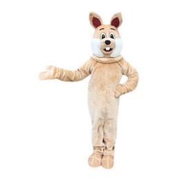 Wholesale High Quality Rabbit Costume - Brown Rabbit Mascot Costume Cartoon Real Photo high quality