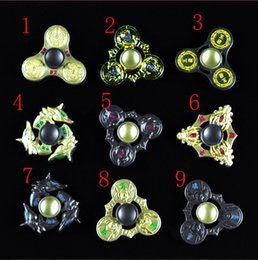 Wholesale Wholesale Hurricane - 9 Designs HandSpinner Metal Honor Hand Spinner Hurricane Shape Tri-Spinner Fidget Toy EDC Decompression Anxiety Gyro Finger Spinnings