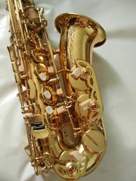 Wholesale Saxophone Selmer - Hot selling France Henri Selmer 54 saxophone alto Musical Instruments saxofone Electrophoresis gold professional sax & Hard boxs