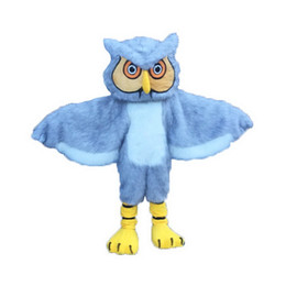 Wholesale Owl Mascot Cartoon - Gray long-haired owl Mascot Costumes Cartoon Character Adult Sz 100% Real Picture