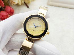Wholesale Metal Wristwatch - 2017 A piece lots Top brand Metal women watch rose gold special steel Lady Wristwatch free box student clock fashion design Free shipping