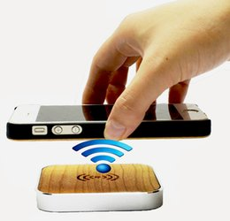 Wholesale Square Usb Color - Wireless Square Metal Wood Charger Three Color Gold Silver Black Through Qi Standard Use Micro USB For Iphone Samsung Universal Cell Phone